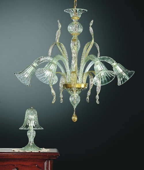 Murano Glass Chandelier 207-6 oro