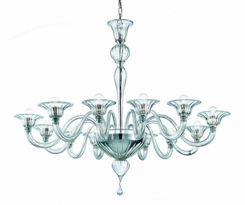 Murano Glass Chandelier Elegante