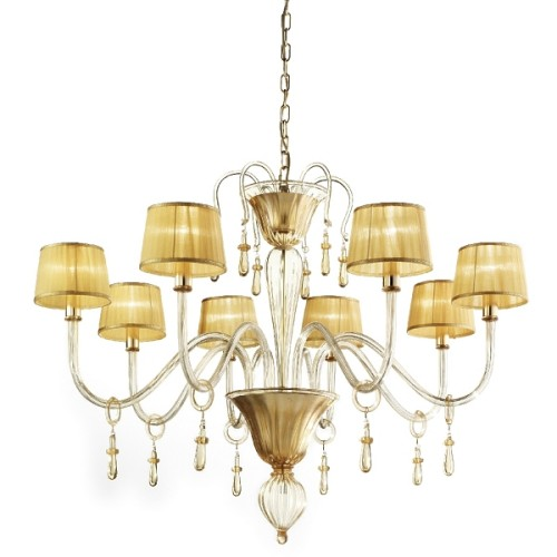 Murano Glass Chandelier Parigi